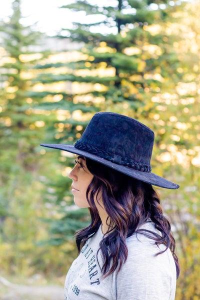 Black Braid Detail Western Style Hat
