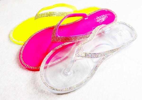Rhinestone Jelly Flip Flop