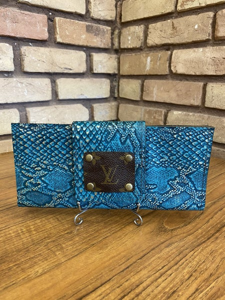 Handmade Genuine Leather Upcycled LV Wallet