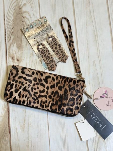 Leopard bracelet wallet
