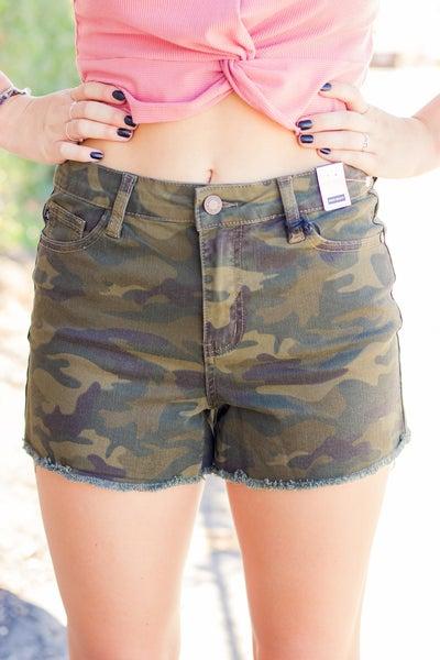 Judy Blue Army Camo Shorts