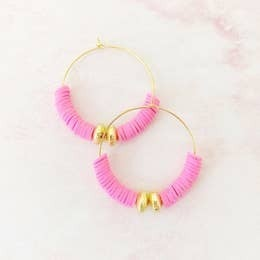 Gold Accent Hoop Earrings
