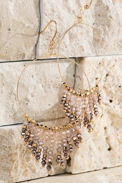 Hoop Chandelier Earrings