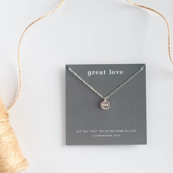 """Great Love"" Disc Necklace"
