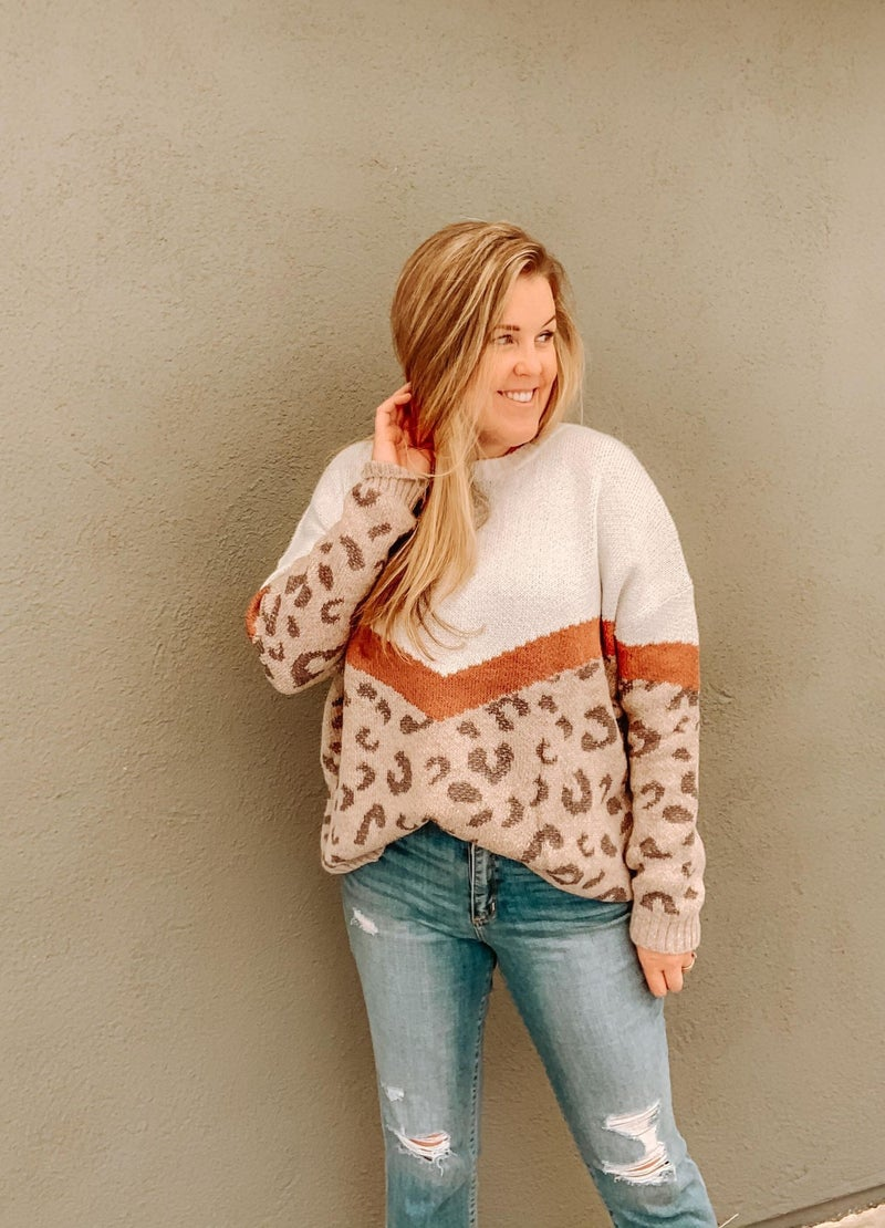 Ready For The Weekend Leopard Sweater