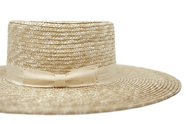 Avery Straw Boater Hat