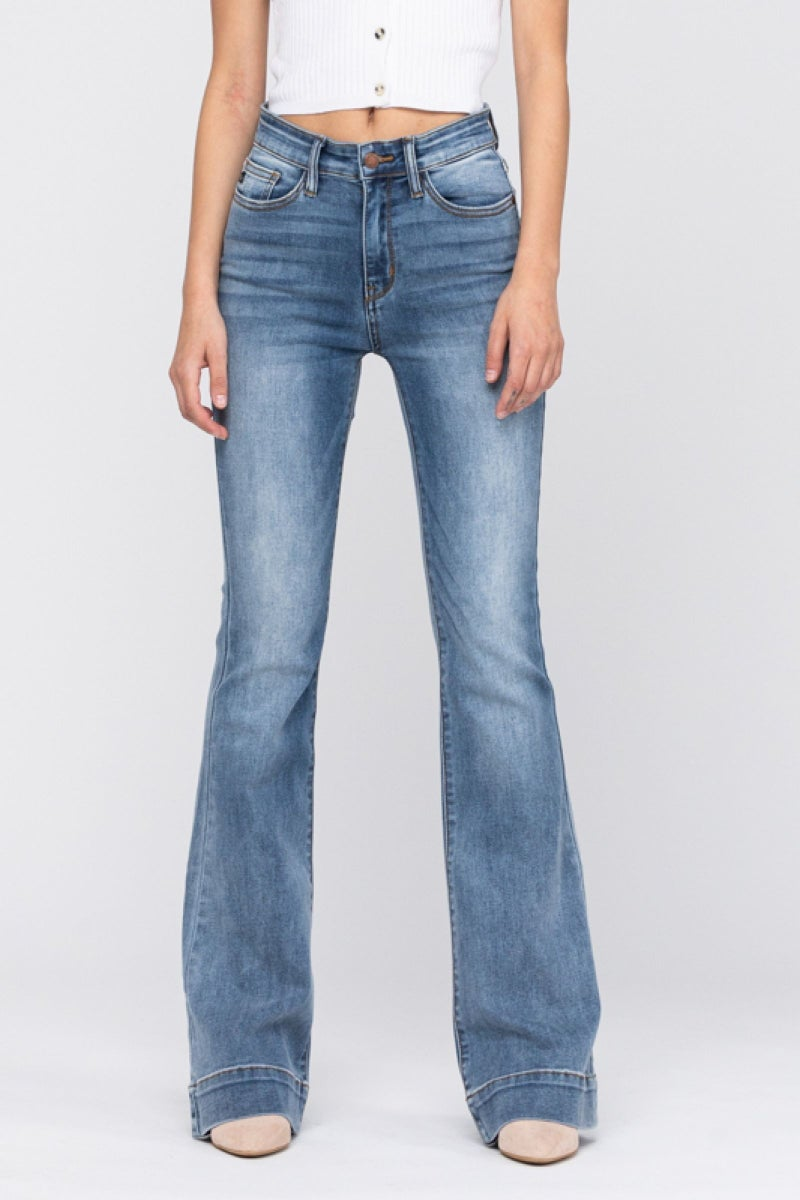 Judy Blue Mid Rise Trouser Flare