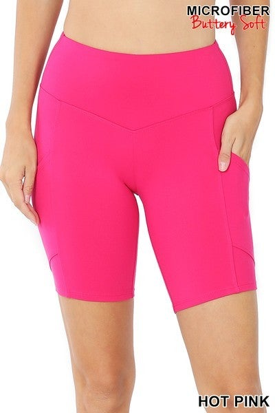 Black Friday Bermuda Shorts-Hot Pink