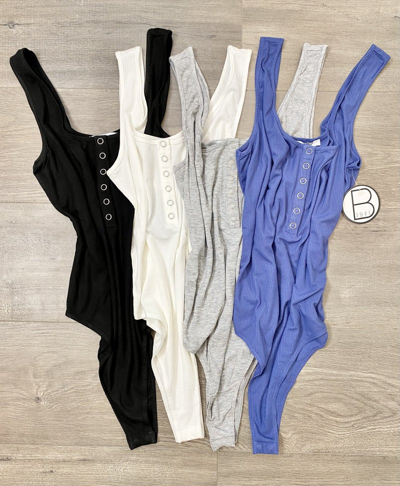 Ribbed Sleeveless Bodysuit