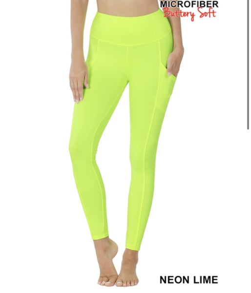 Black Friday Pocket Leggings Neon
