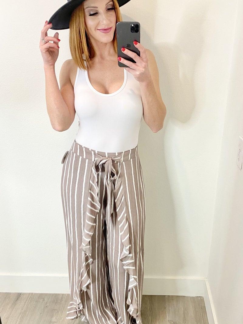 Ruffle Front Pants