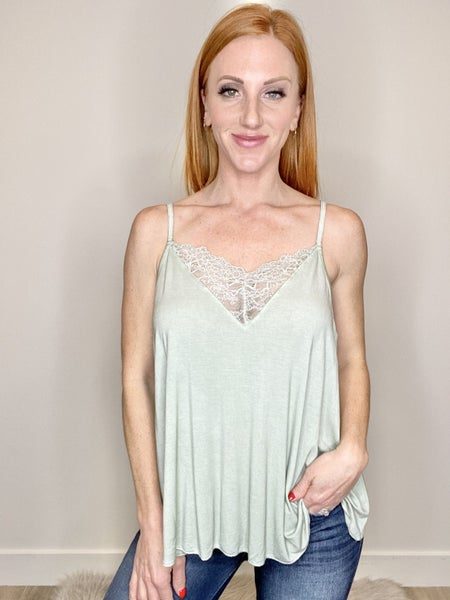 V-Neck Lace Cami