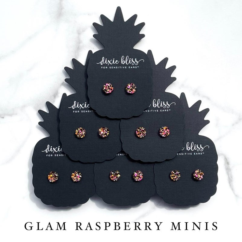 Glam Raspberry Gold minis