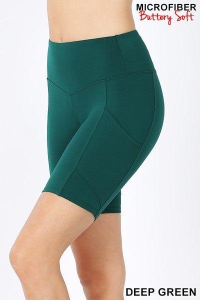 Black Friday Bermuda Shorts-Deep Green