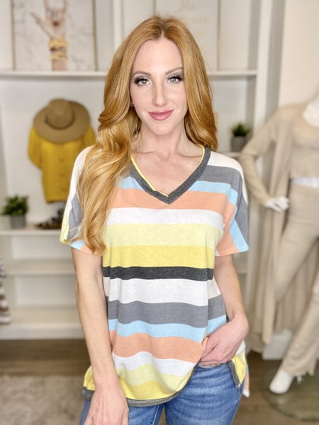 Spring Stripes V- Neck