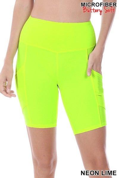 Black Friday Bermuda Shorts-Neon Yellow