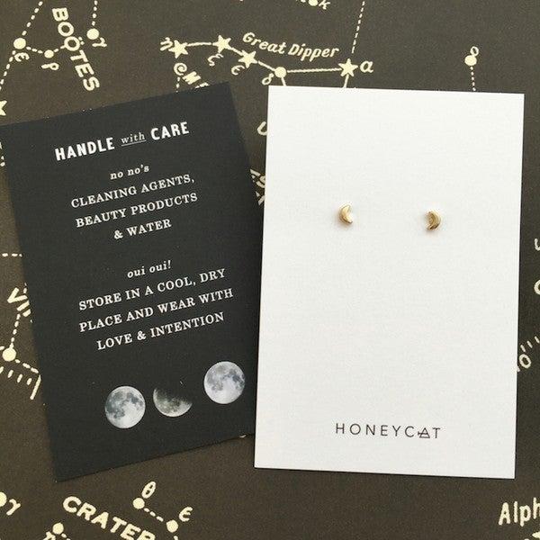 Mini Moon Stud Earrings