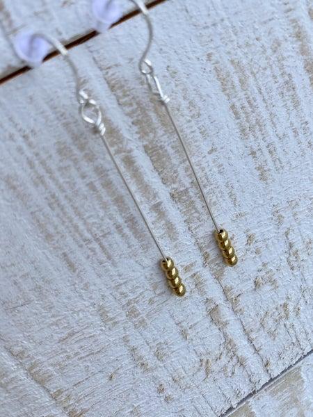 Simple 3 Bead Earrings