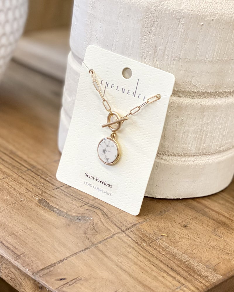 Carrie Howlite Pendant Necklace