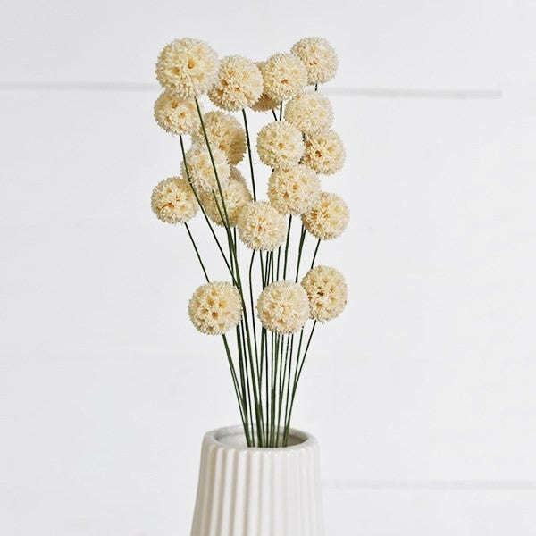 White Windball Vase Flowers