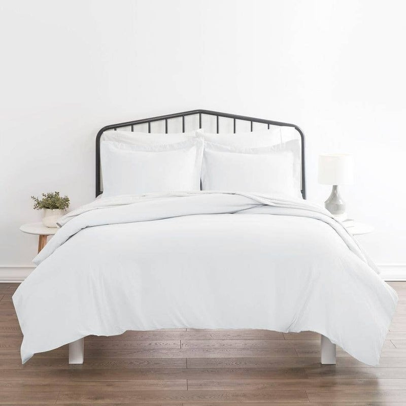 White Duvet Cover with Matching Shams