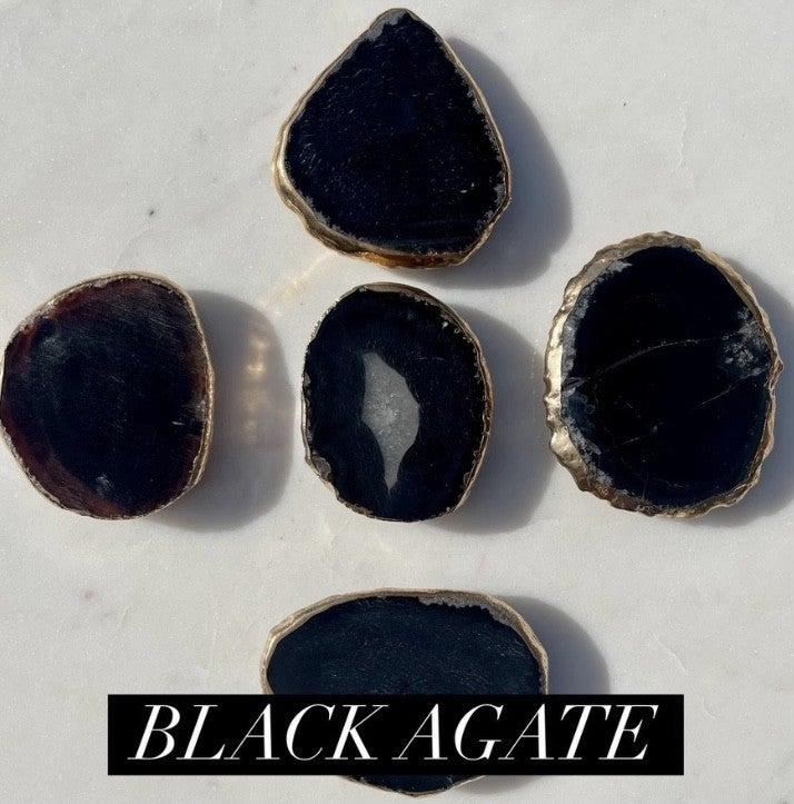 New Phone Grips!! Natural stones with gold plated edges!