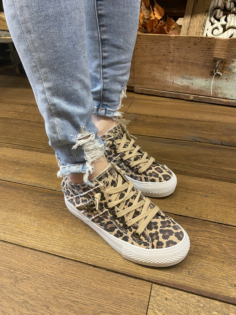 Blowfish Leopard  Hidden Wedge Sneakers