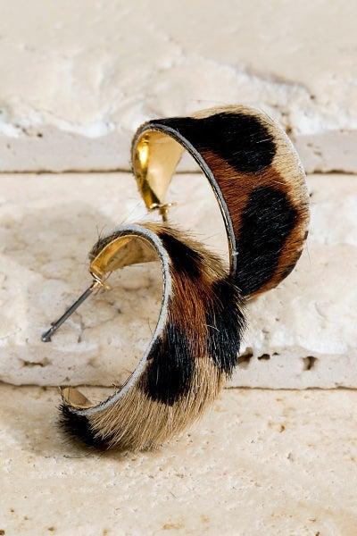 CYBER DEAL-Leather Hyde Hoop Earrings