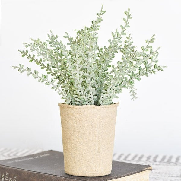 Dusty Stems Floral Paper Pot