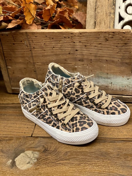 Blowfish Leopard  Hidden Wedge Sneakers