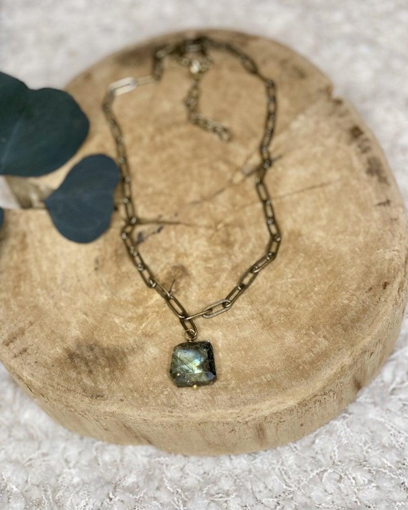 Gypsy Moon Paperclip Necklace
