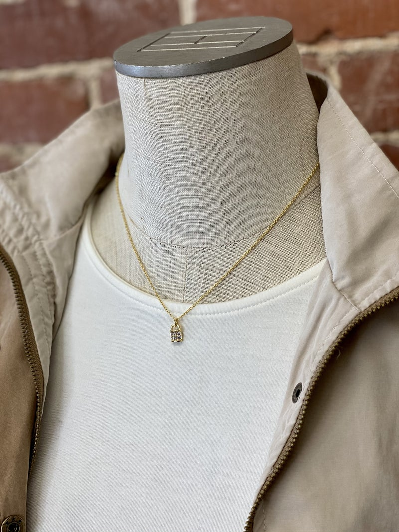 Boho Babes Mini Pad Lock Necklace