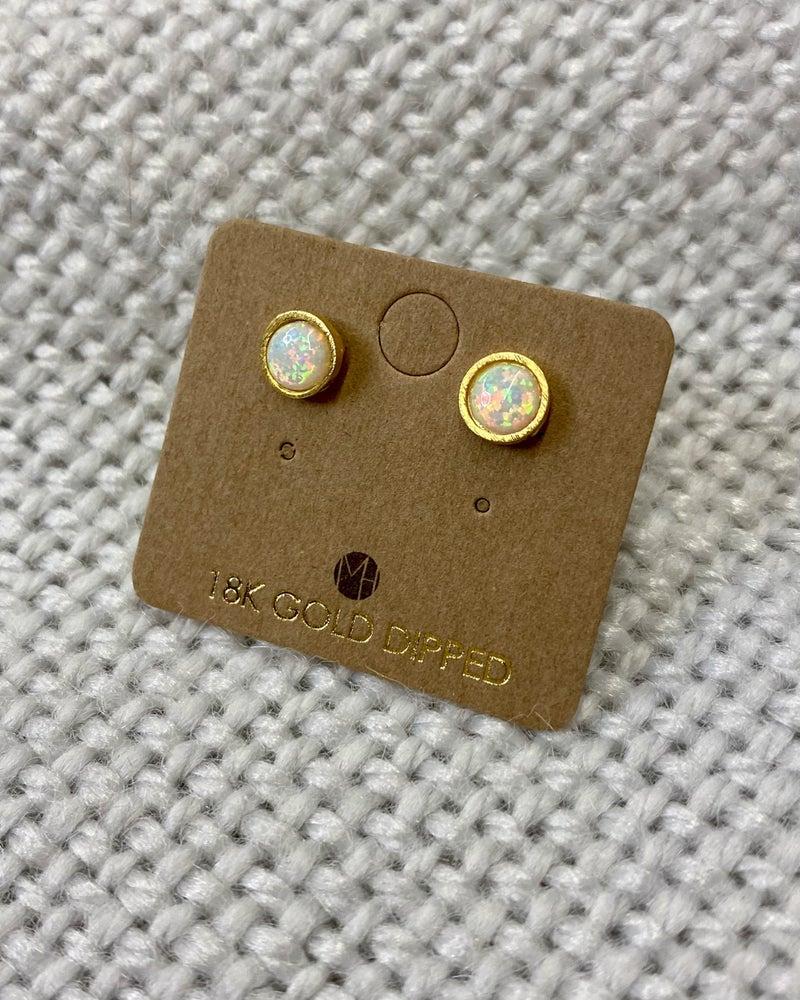Opal on Fire Earrings