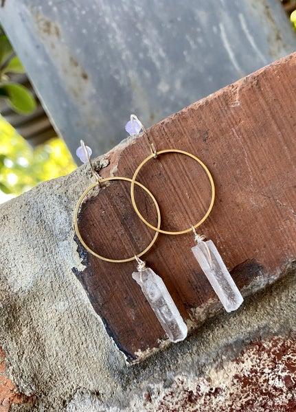 Natural Quartz Earrings