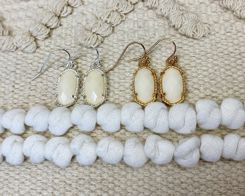 Simple Ivory Lauren Kenzie Earrings