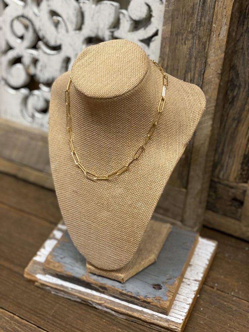 Paperclip Choker Gold