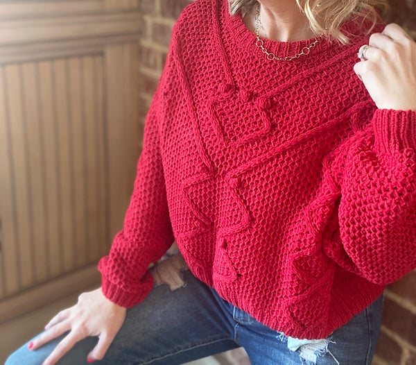 Be My Valentine Date Sweater!!!! Red or Black!