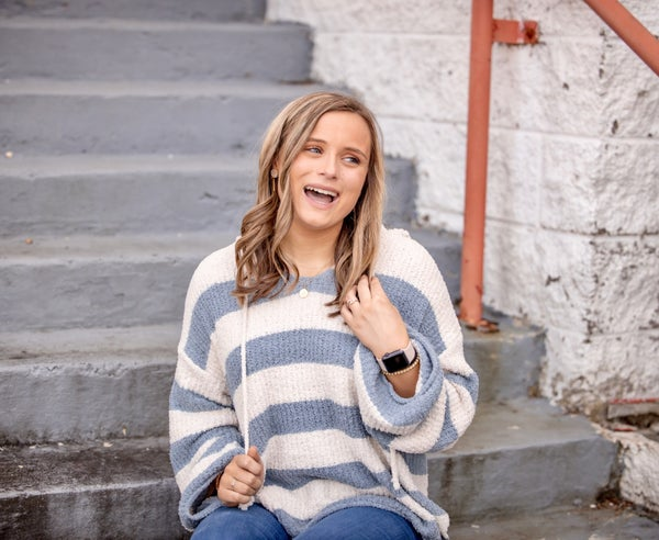 The ABSOLUTE Coziest Stripe Pullover