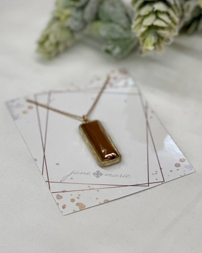 Ava Rectangle Pendant Necklace