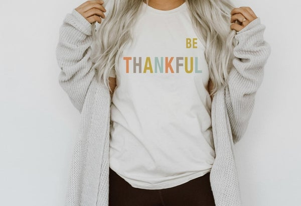 PREORDER!! Be Thankful Layering Tee!