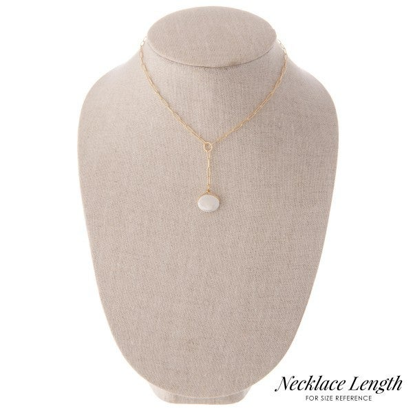 Hera Chain Y Peal Necklace
