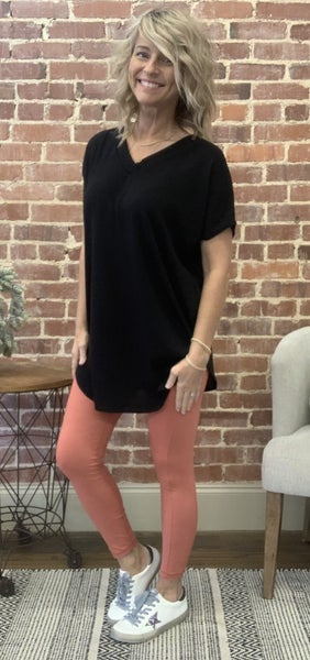 Perfect Summer Legging in Coral- UP TO 3X!!