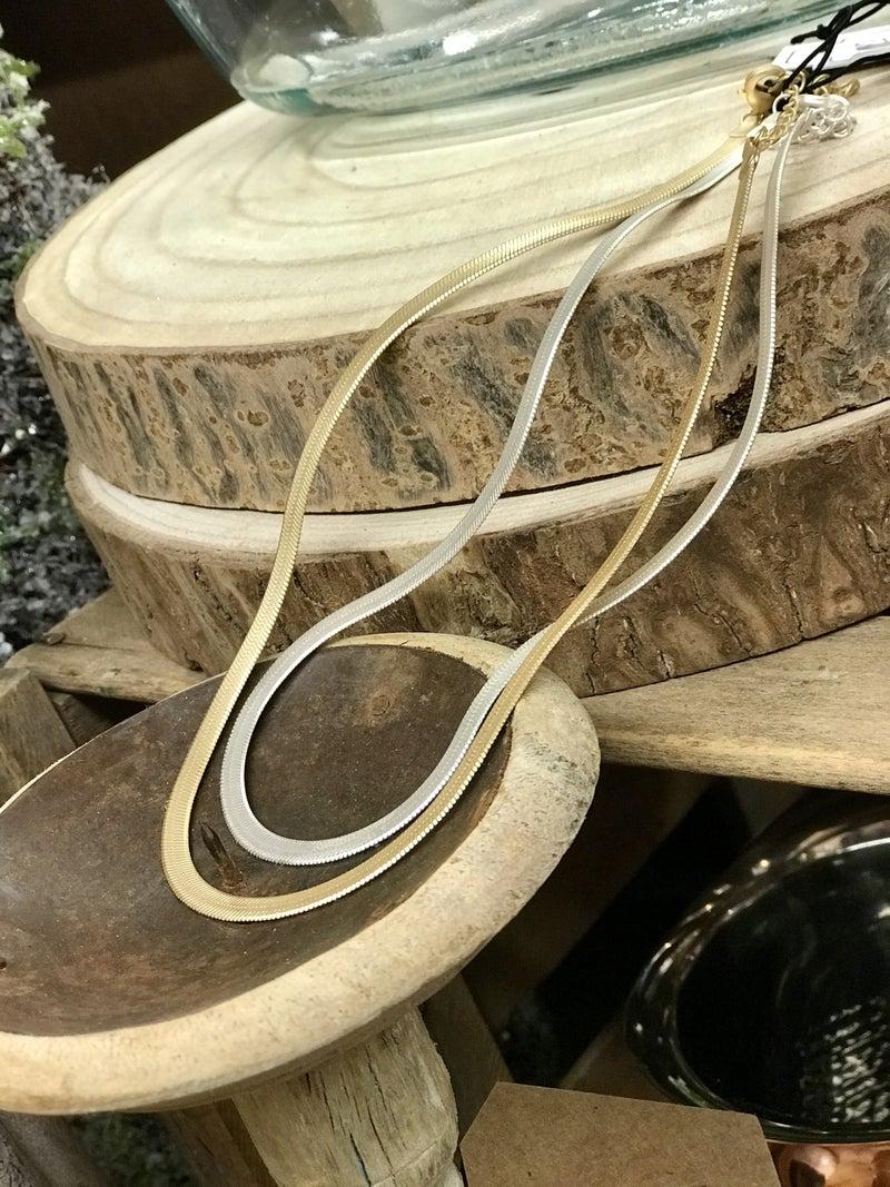 Flat Herringbone Snake Chain