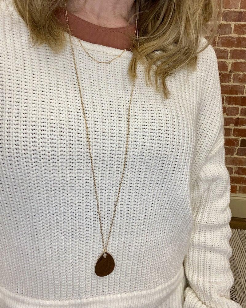 Caroline Teardrop Layer Necklace