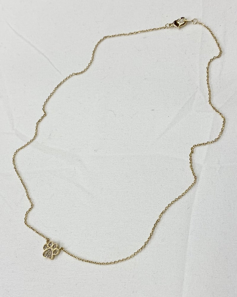 Paw Up Necklace
