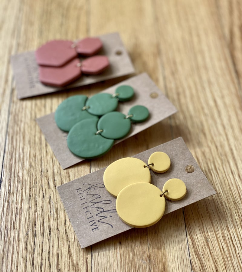 Summer Colors Kaldi Kollective Clay Earrings