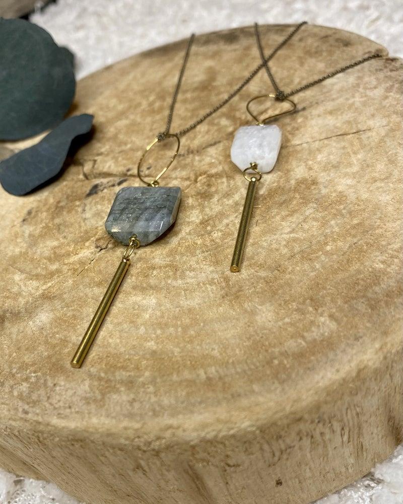 Gypsy Moon Bar Necklace