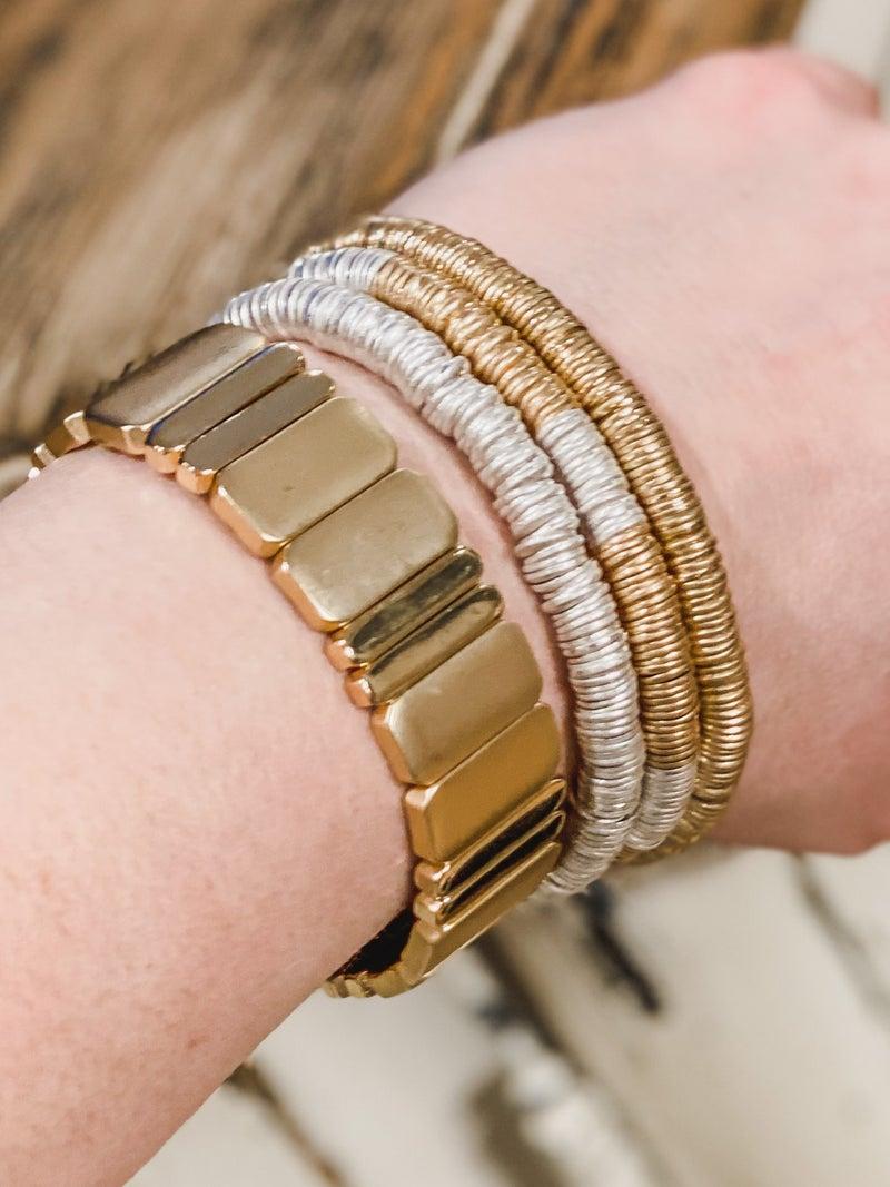 Flat Bead Boho Bracelet