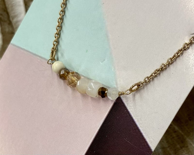 The Cricket Neutral Beaded Necklace