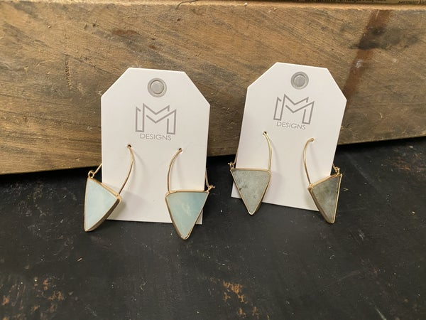 Triangular Stone Statement Earring